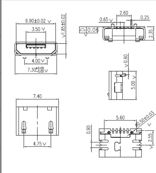 tmc08-usbd05-235-micro usb 2 35 type u52a0 u56fa u7121 u6372 u908a